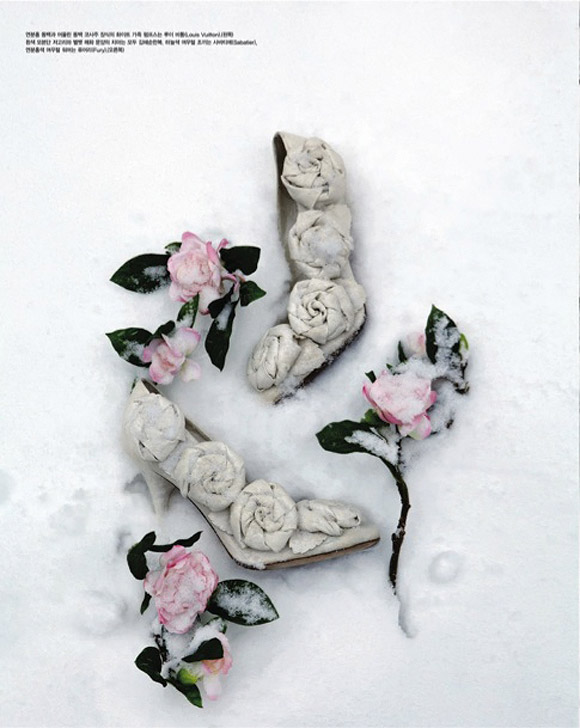 Kim Jung Han for Some Flower in Snow, Vogue Korea