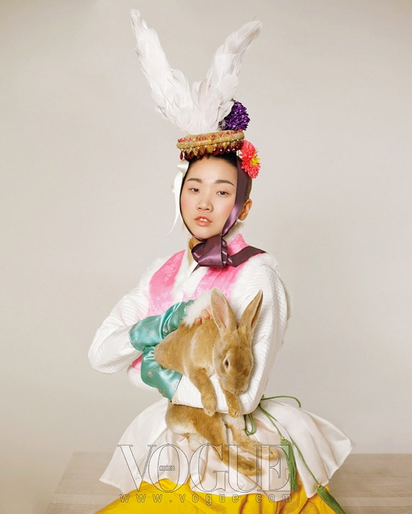Lee Gun Ho for Happy Bunny Girl, Vogue Korea