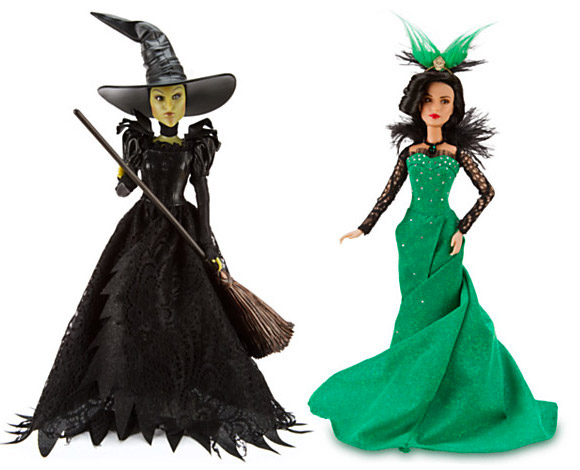 Disney Oz the Great and Powerful Wicked Witch of the West and Evanora Dolls, Bambole