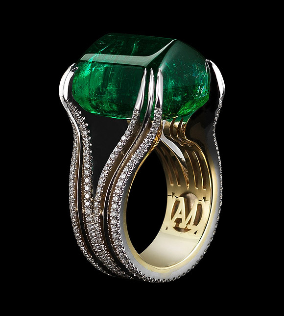 Mila Kunis at Oz the Great and Powerful Première, Gemfields Emeralds and Rubies Ring