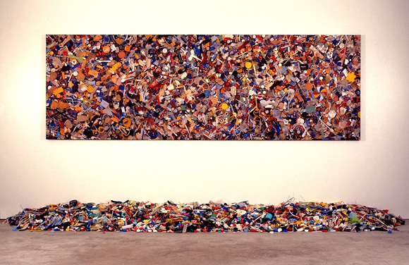 John Dahlsen - Multi Coloured Plastic Installation