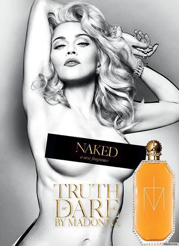 Celebrity Singers Perfumes, Madonna - Truth or Dare Naked