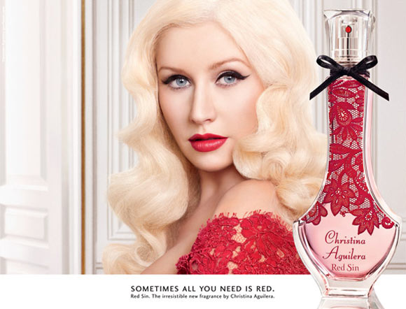 Celebrity Singers Perfumes, Christina Aguilera - Red Sin