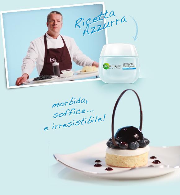 Garnier Idratante Prodigiosa, Crema Leggera Idratante 24 Ore + Sacher Bianca, Gelatina di Mirtilli, Mirtilli Freschi e Panna Acida