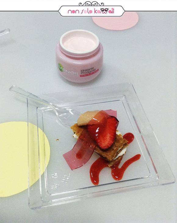 Garnier Idratante Prodigiosa, Crema Ricca Idratante 24 Ore + Millefoglie con Crema di Yogurt, Lichees, Fragole ed Elastik di Elisir di Rose