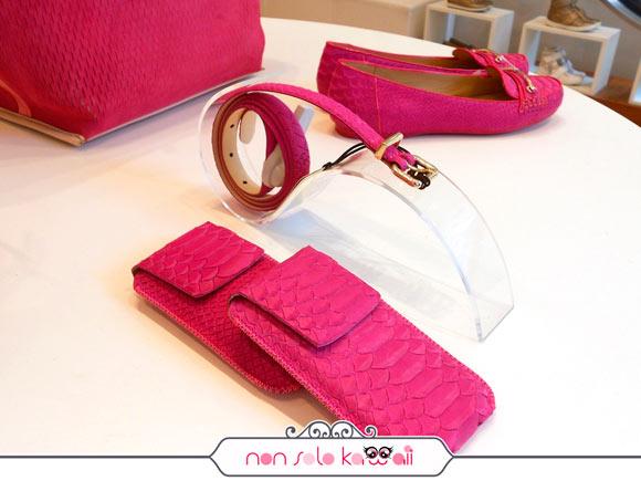 Geox primavera estate 2013, accessori fucsia rosa