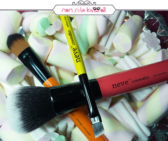 Neve Cosmetics - Glossy Artist: Red Amplify, Orange Concealer, Yellow Liner