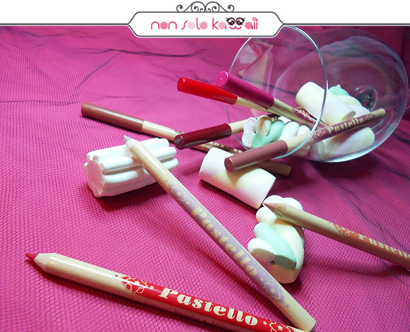 Neve Cosmetics - Pastello Matite Labbra: vino/burgundy, fenicottero/fuchsia, teatro/crimson, peperoncino/scarlet, salmone/peach, marmotta/rose, ballerina/pink, inverno/mauve