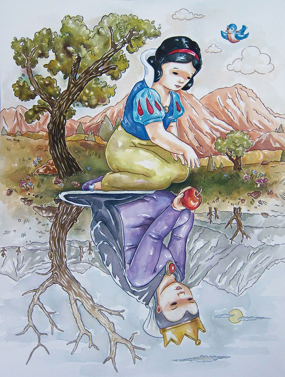 Ming Ong, Snow White Reflection, il Riflesso di Biancaneve