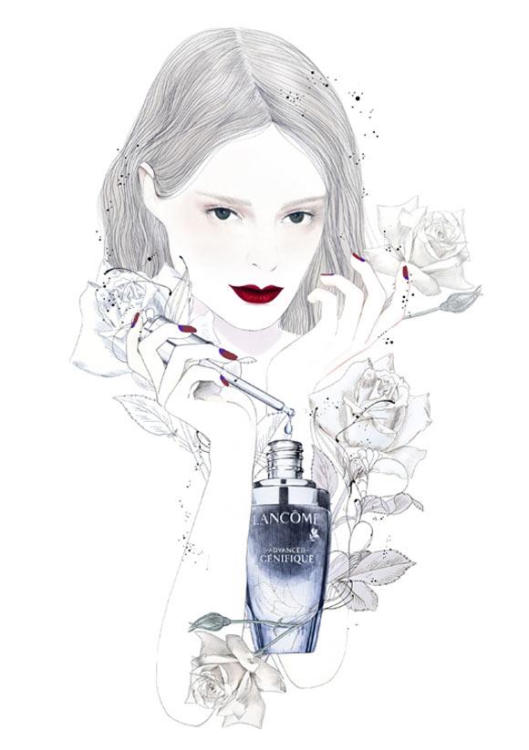Lancôme - The Little Black Bottle, Advanced Génifique, art and beauty