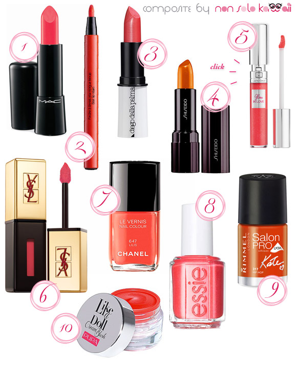 non solo Kawaii - Summer 2013 Beauty Color Trends, Coral