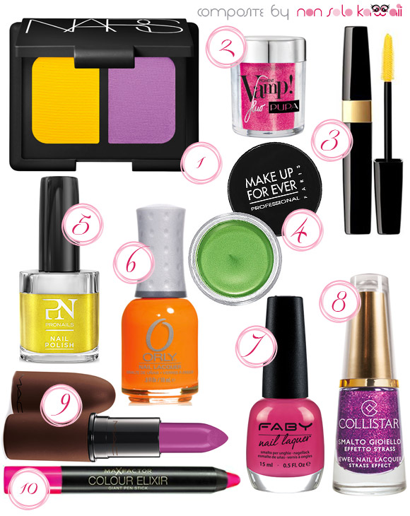 non solo Kawaii - Summer 2013 Beauty Color Trends, Fluo