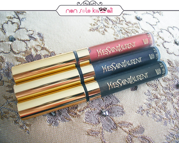 non solo Kawaii - Yves Saint Laurent - Eyeliner Baby Doll 16 Rose Baby Doll, 12 Light Amethyst, 10 Light Golden Brown