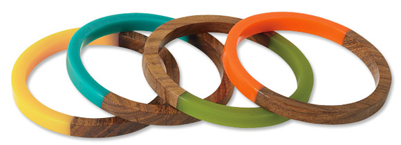Orvis - Colorful Wood Bangle Set