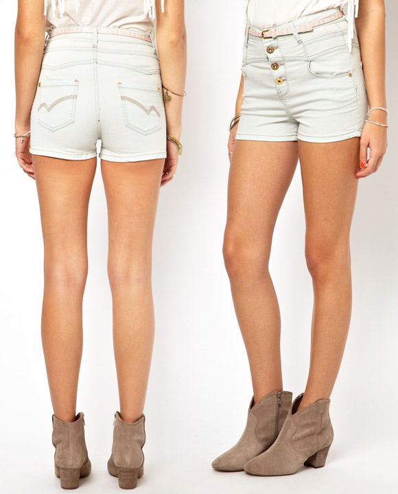 Primark - High Waisted Denim Short