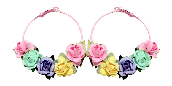 Locketship - Floral Hoop Earrings