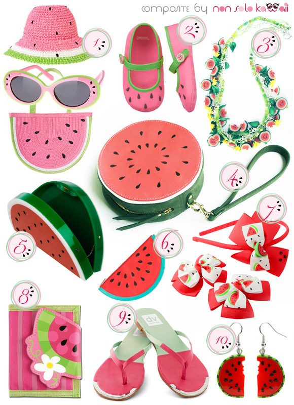 non solo Kawaii - Focus on: Watermelon Anguria Cocomero and Accessories - accessori