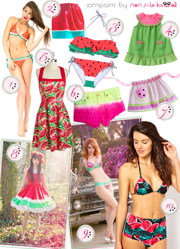 non solo Kawaii - Focus on: Watermelon Anguria Cocomero and Accessories - Clothes