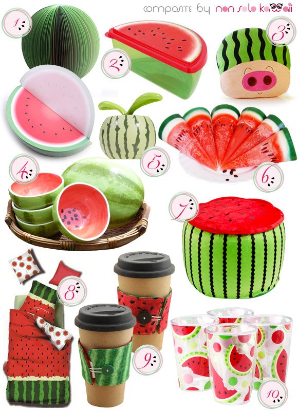 non solo Kawaii - Focus on: Watermelon Anguria Cocomero and Home