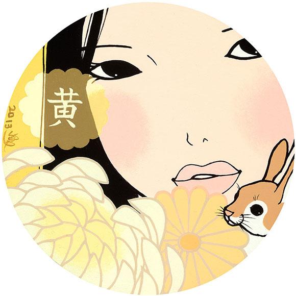 Yumiko Kayukawa, Yellow, Acrylic