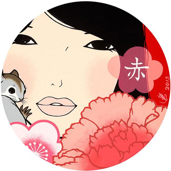 Yumiko Kayukawa, Red, Acrylic