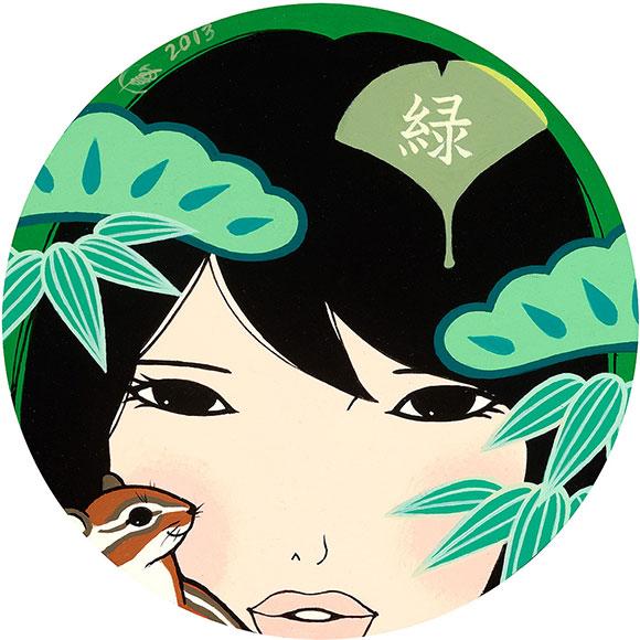 Yumiko Kayukawa, Green, Acrylic