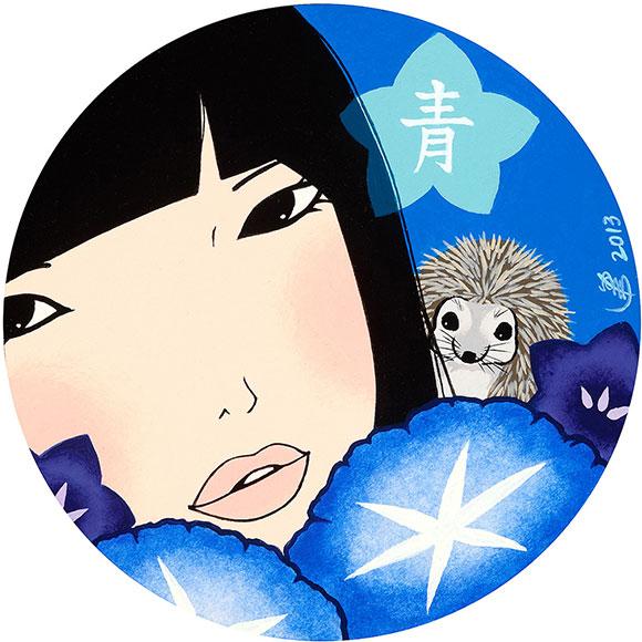 Yumiko Kayukawa, Blue, Acrylic
