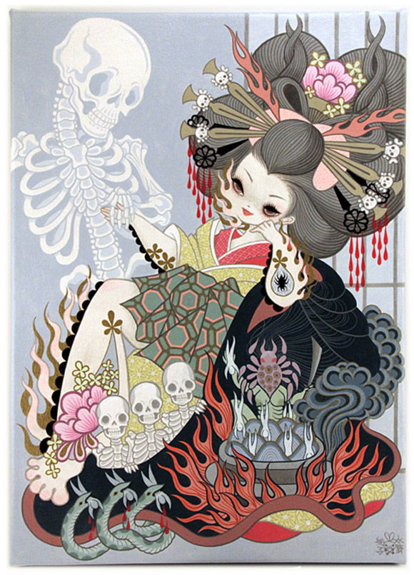 Junko Mizuno, Jigoku Dayu (Hell Courtesan) 1, Rising Exhibition