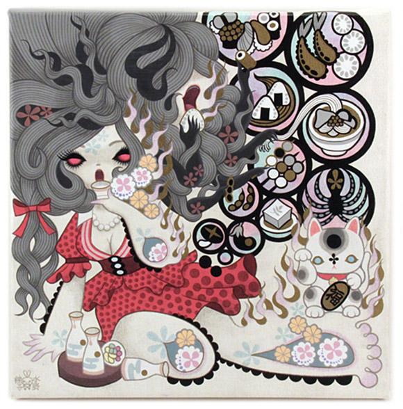 Junko Mizuno, Futakuchi Onna (Two-Mouthed Woman) 1, Rising Exhibition