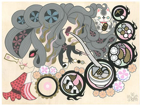 Junko Mizuno, Futakuchi Onna (Two-Mouthed Woman) 2, Rising Exhibition