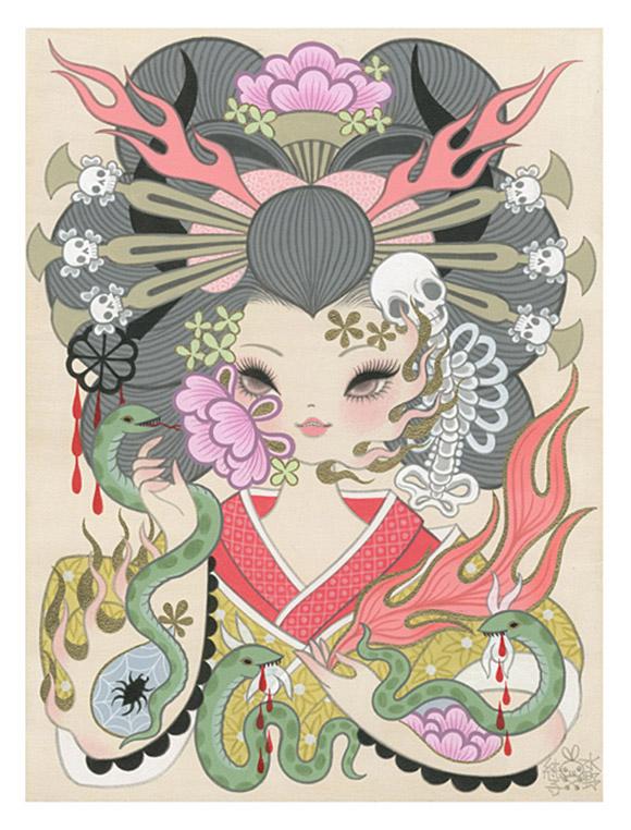 Junko Mizuno, Jigoku Dayu (Hell Courtesan) 2, Rising Exhibition