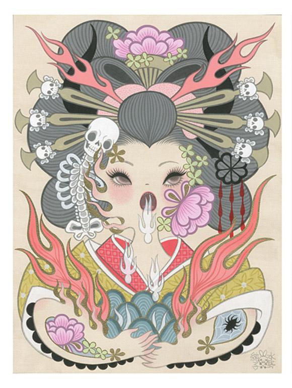 Junko Mizuno, Jigoku Dayu (Hell Courtesan) 3, Rising Exhibition
