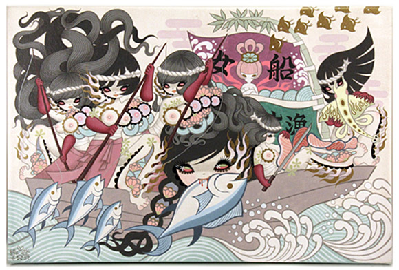 Junko Mizuno, Onna Bune (Women's Fishing Boat) 1, Rising Exhibition