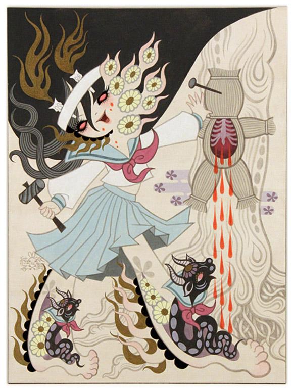 Junko Mizuno, Ushi no Koku Mairi 3, Rising Exhibition