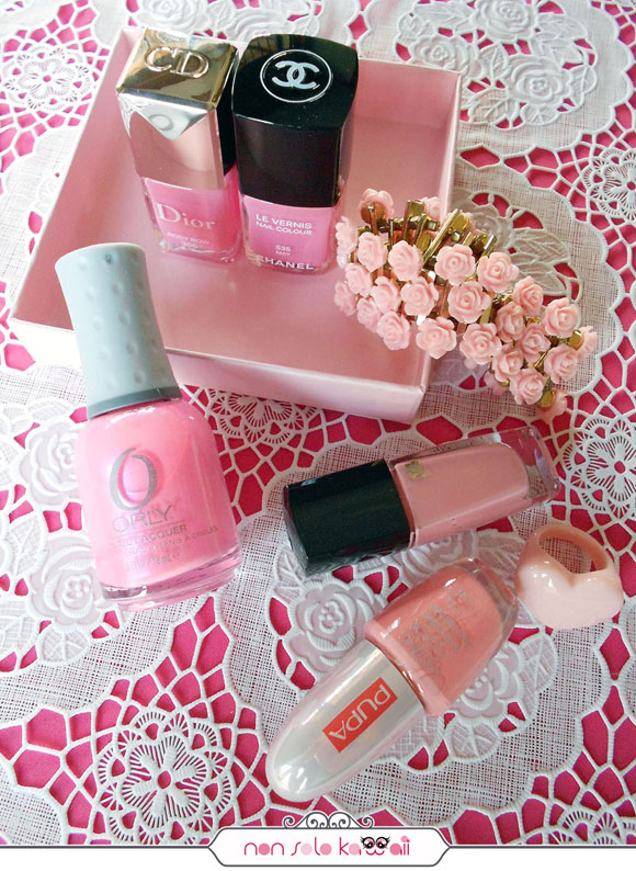 smalti rosa, pink nail polishes