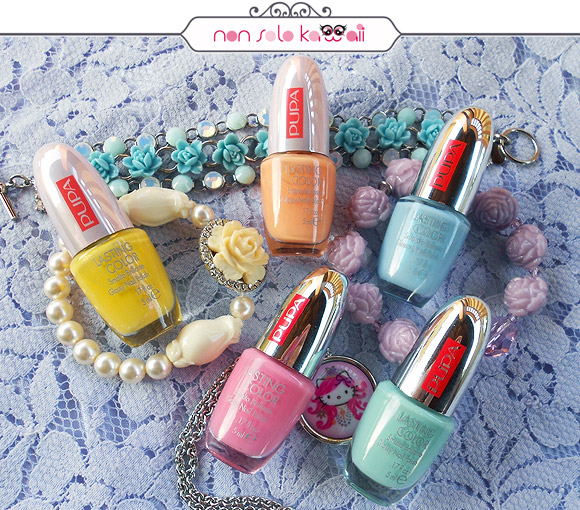 Kawaii Overdose, 50's Dream Lasting Color 514 50's Dream Pearly Lemon, 50's Dream Lasting Color 516 50's Dream Apricot, Lasting Color 004 Multicolor Bubbles, Lasting Color 745 Pearly Light Blue, Lasting Color 011 Pistacchio Bubbles