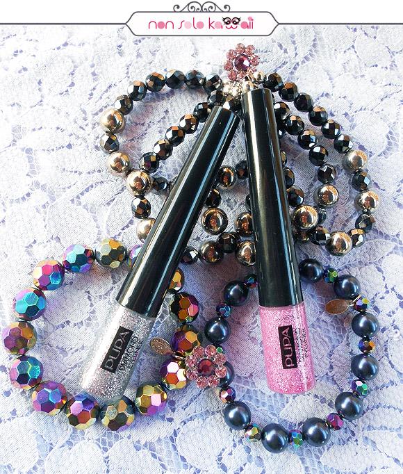 Kawaii Overdose, Diamond Eyeliner 008 Glitter Charcoal, Diamond Eyeliner 006 Glitter Fuchsia