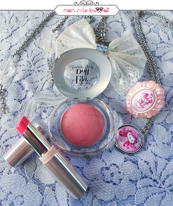 Like A Doll Luminys Blush 103 Satin Pink, 50's Dream Miss Pupa Lipstick 305 Candy Pink
