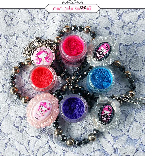 Kawaii Overdose, Pigment Vamp! Fuchsia Fluo 402, Blue Fluo 302, Violet Fluo 401, Coral Fluo 601