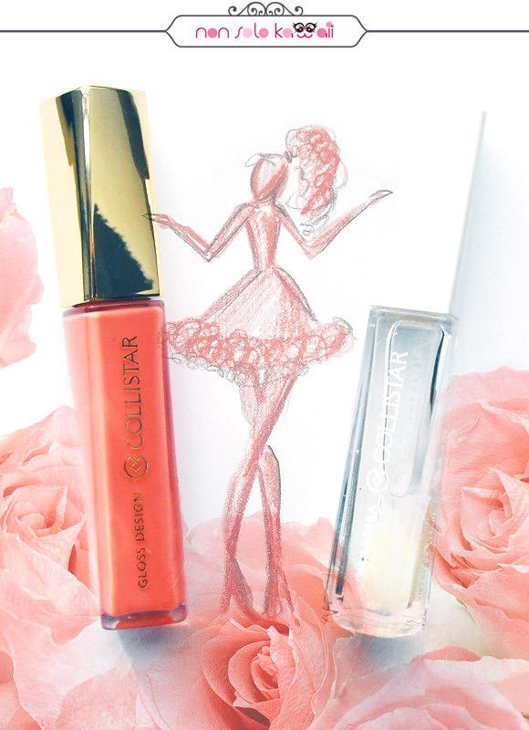 non solo Kawaii, Composite and Illustrations by Laura Castellanza, Collistar Nude Look Gloss Design, Elisir Labbra Olio Nutriente all'Argan