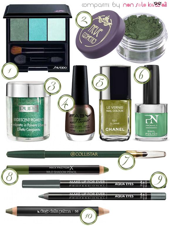 non solo Kawaii - Fall / Winter 2013-14 Beauty Color Trends, Lichen & Emerald