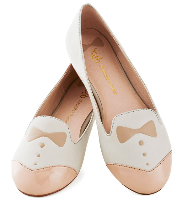 ModCloth - Dash of Dapper Flat in Tan