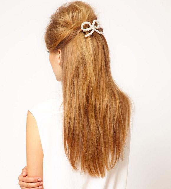 ASOS - Fermacapelli a fiocco con perle