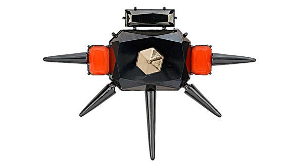 Topshop - Gunmetal Spike Brooch