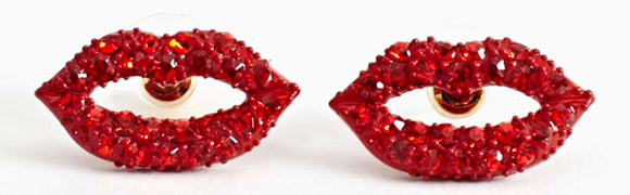 Nasty Gal - Disco Lips Earrings