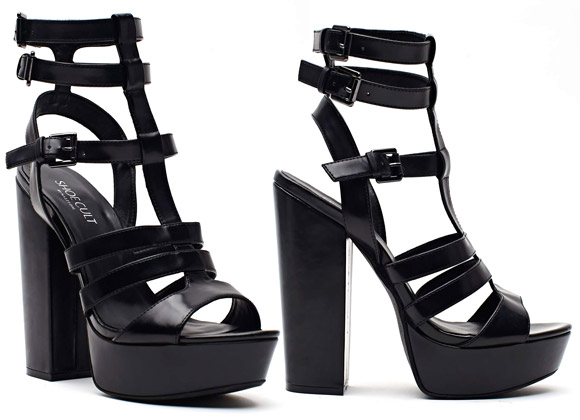 Nasty Gal - Shoe Cult Amplify Platform Sandal Black
