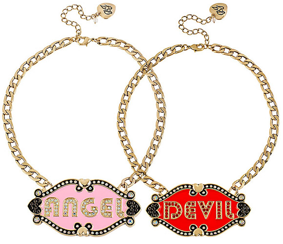 Betsey Johnson - Angel&Devil Necklace