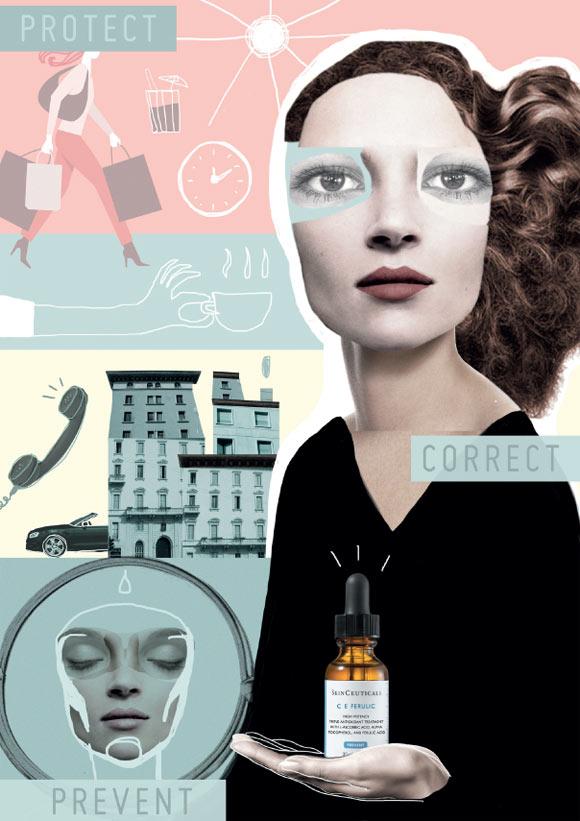 Elisabetta Bianchi Metropolitan beauty for SkinCeuticals Form Of Art Comics