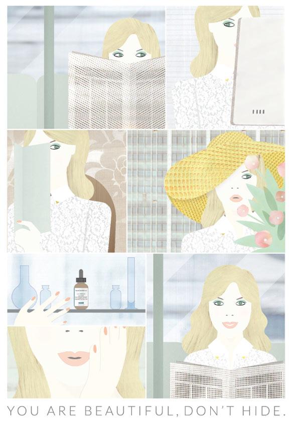 Cristina Buonanno - You are beautiful, don't hide for SkinCeuticals Form Of Art Comics