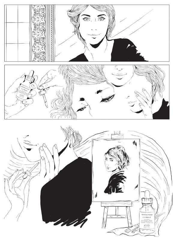 Anthea Contu - L'eternità in un gesto for SkinCeuticals Form Of Art Comics